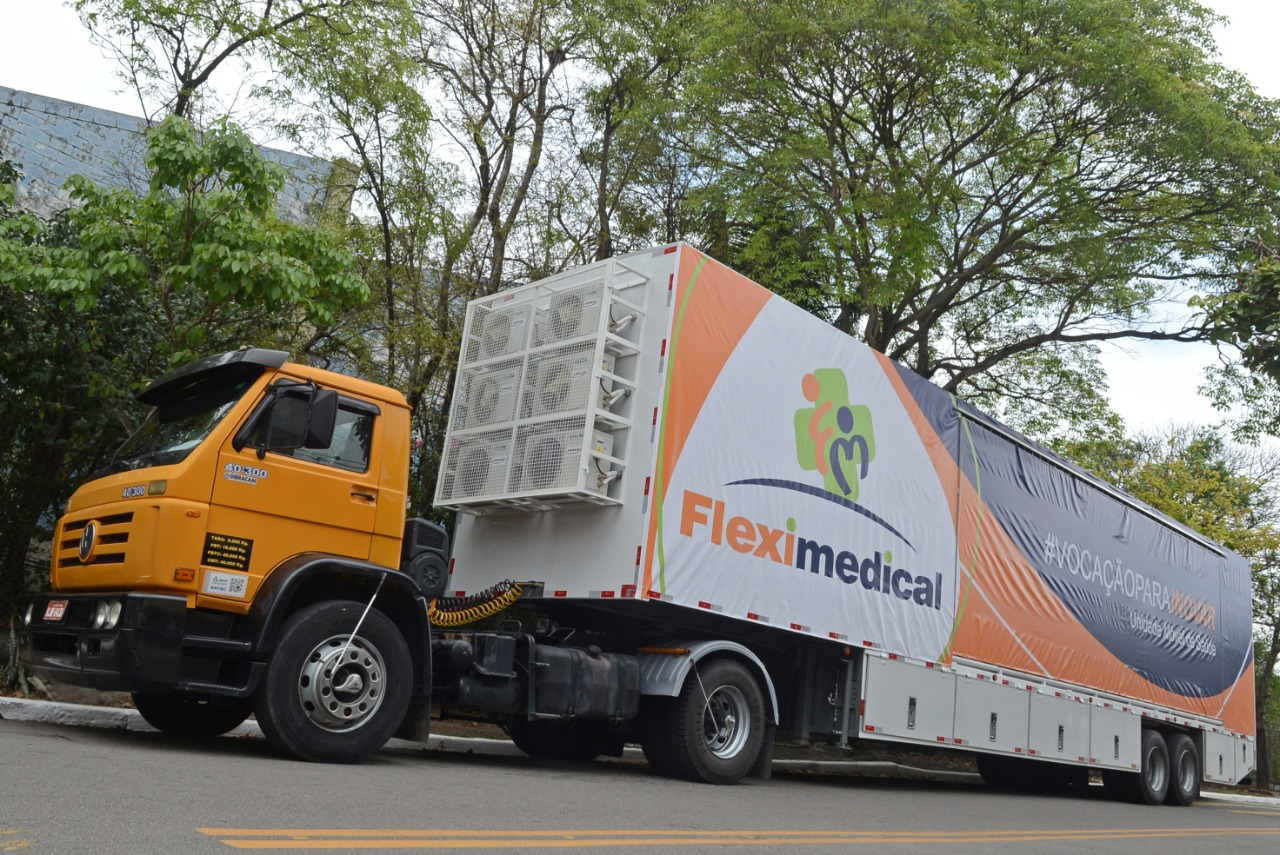 Carreta da Saúde da Fleximedical