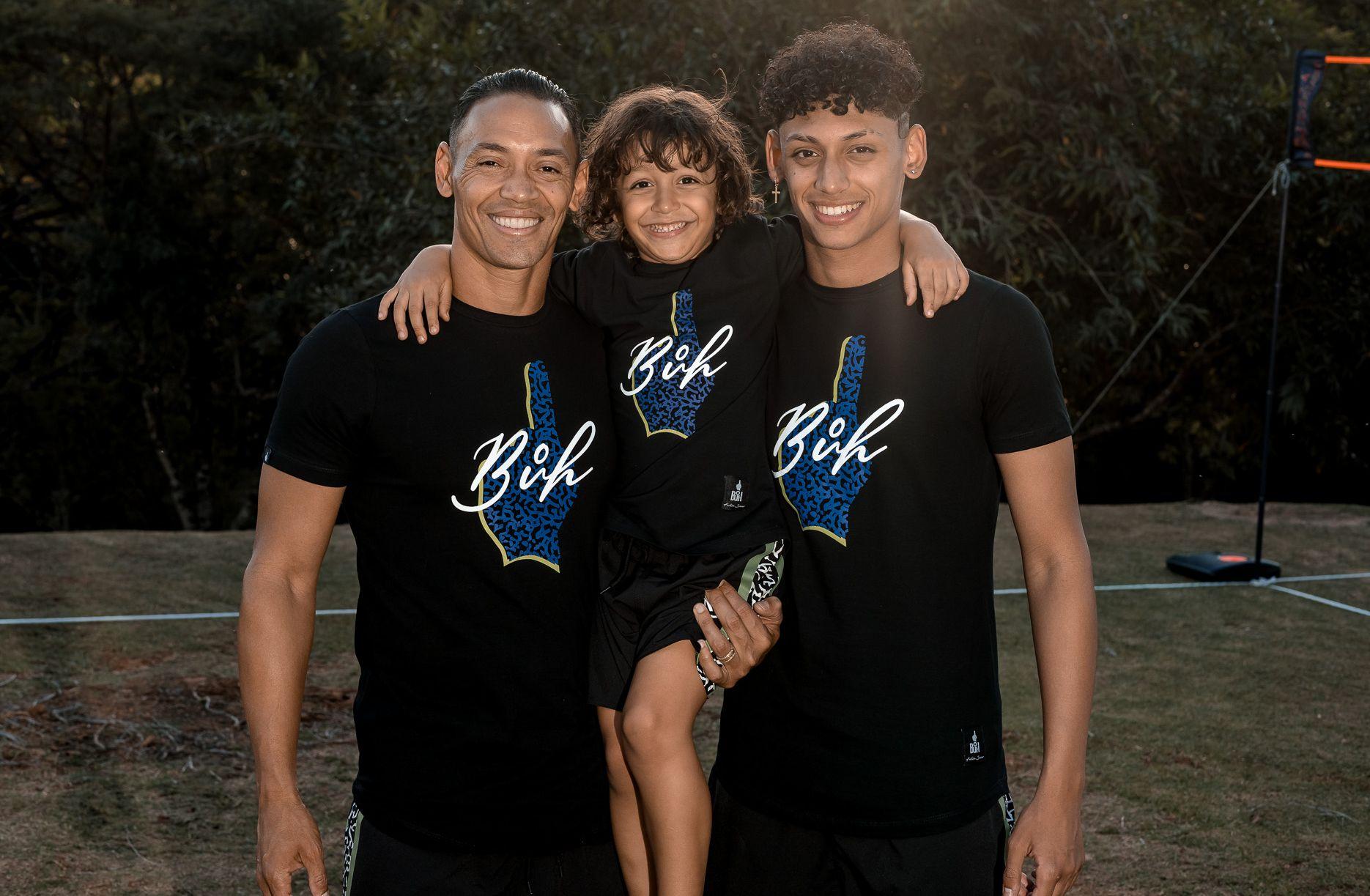 Jogador Ricardo Oliveira, com os filhos Guilherme e Antony - Foto: Mahfilms - @mah.films
