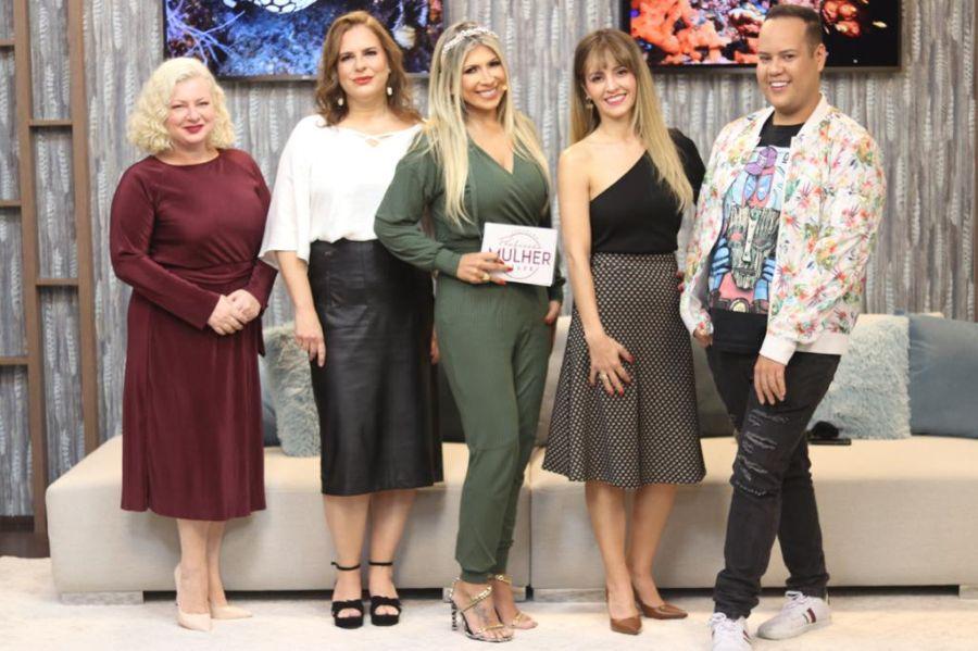 Mariza Gottdank, Fabíola Margaritelli, Fernanda Comora, Dra Patrícia Ávila e Allan Borges