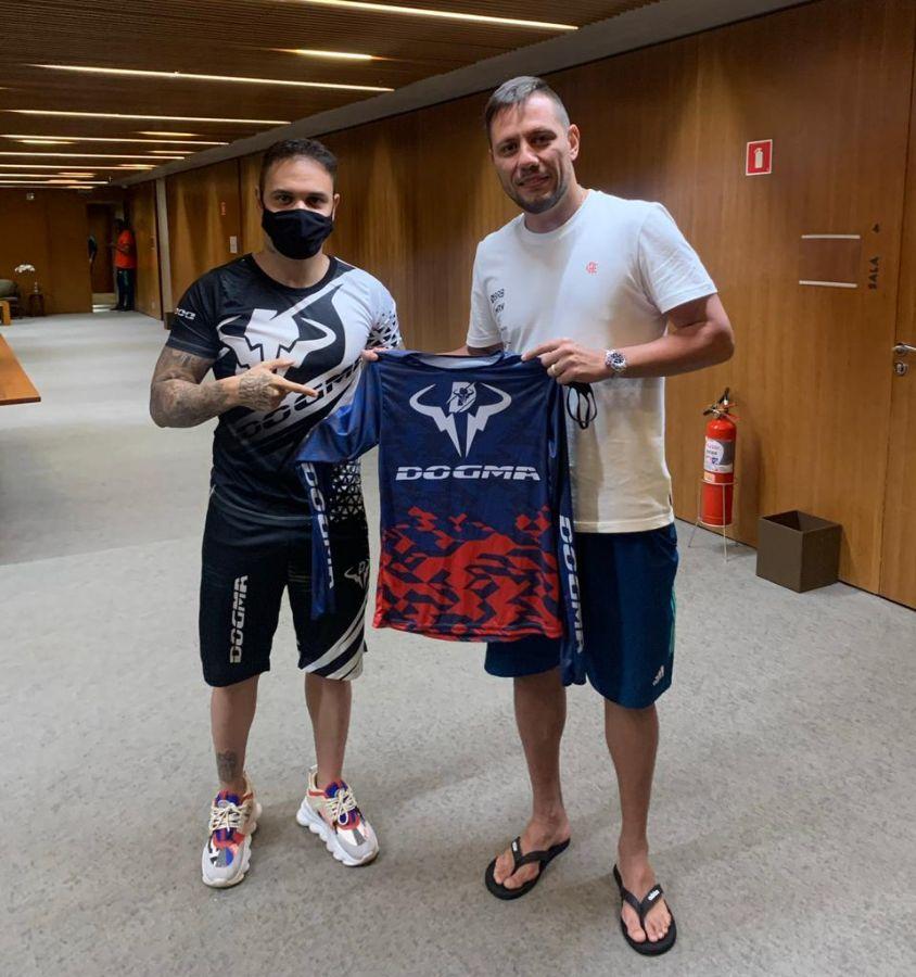 Hugo Leonardo e Diego Alves do Flamengo - Foto: Acervo Pessoal