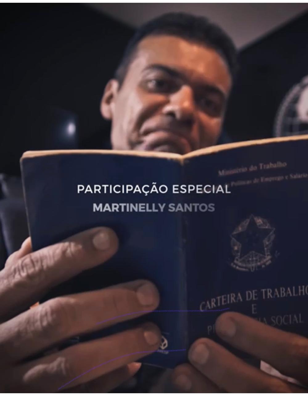 Empresário Martinelly Santos durante gravação do Vídeo Clipe - Foto: Divulgação