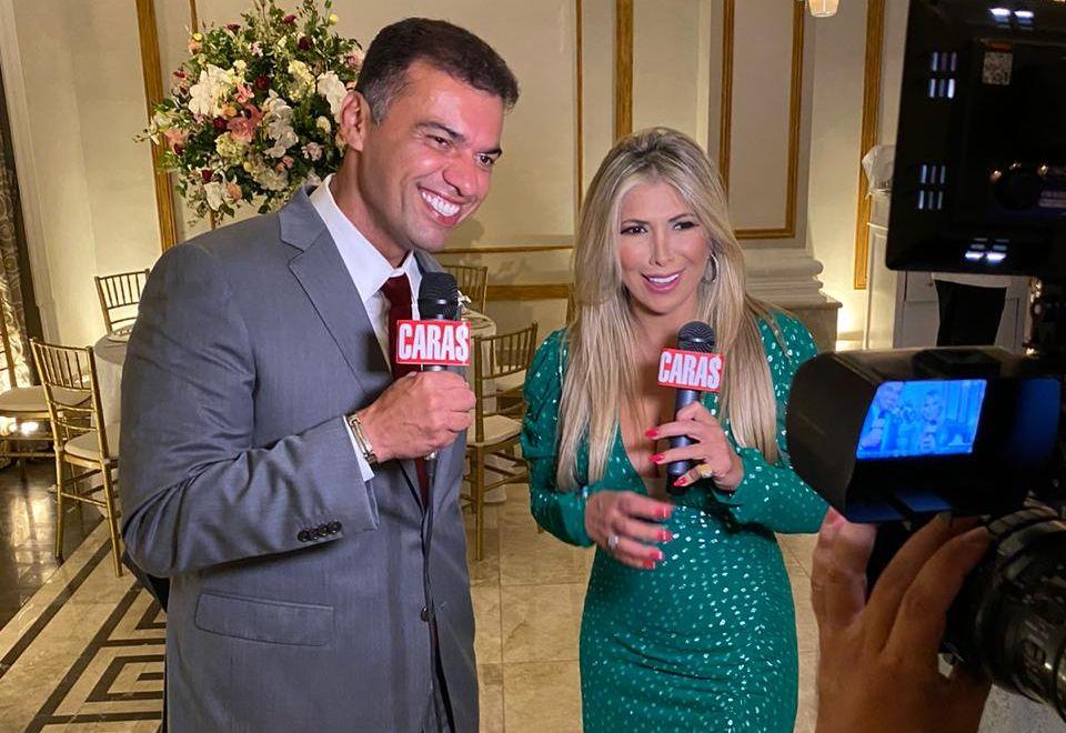 Empresário Martinelly Santos e a Apresentadora Fernanda Comora